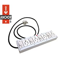 DROPLET PVC Extension Junction Box 4 Switch 4 Socket for Multiple Electrical Appliances 3 Strip Surge Protector PVC Spike Box 5 Meter Wire