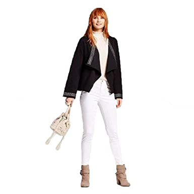 f68ca1322 Mossimo Women s High-Rise Power Stretch Skinny Jeans w Zipper Pockets -  White (