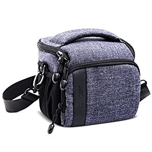 Camera SLR Case Bag,K&F Concept Waterproof Soft Protector Anti-shock Travel Message Bag with Rain Cover for One Mirrorless Canon Nikon Olympus Pentax Sony DSLR by Shenzhen Zhuoer Photograph