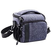 Camera Shoulder Bag K&F Concept DSLR Camera Bag for 1 Camera and 1 Lens for Canon Nikon Sony Camera (M Casual Shoulder Bag 6.7*4.7*5.9'', Grey)