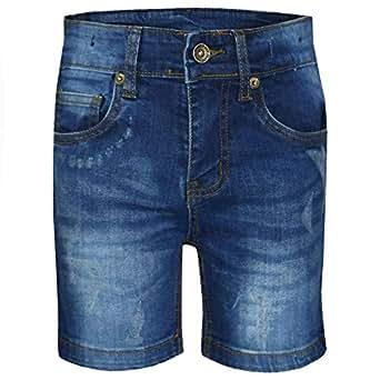 Amazon.com: A2Z Kids Boys Denim Shorts Black Ripped Chino