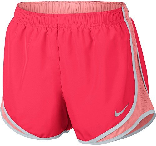 NIKE Women's Dry Tempo Running Short (Lt Fusion Red/Sunblush/Wg, X-Small) ()