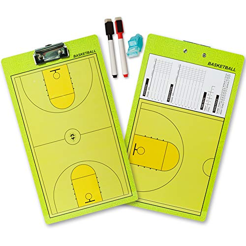 Coaches' & Referees' Gear Coaches' & Referees' Gear Tanchen Folding Basketball Coach Board Plate Book Set with Pen Teaching Clip Coaching Clipboard