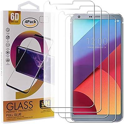 Guran 4 Paquete Cristal Templado Protector de Pantalla para LG G6 ...