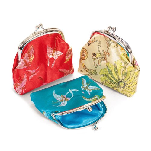 Kelli's Shop Coin Purse - Silk Design (Sold Individually - Styles & Colors Vary)