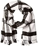 scotch and soda scarf - Scotch & Soda Men's Scarf In Wool Blend Quality with Oversize Check Pattern, Black/White, OS