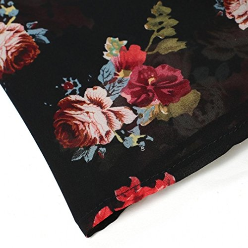 Tefamore Sommer Frauen Floral bedruckt Chiffon Kimono Strickjacke Schal Bluse Tops vertuschen