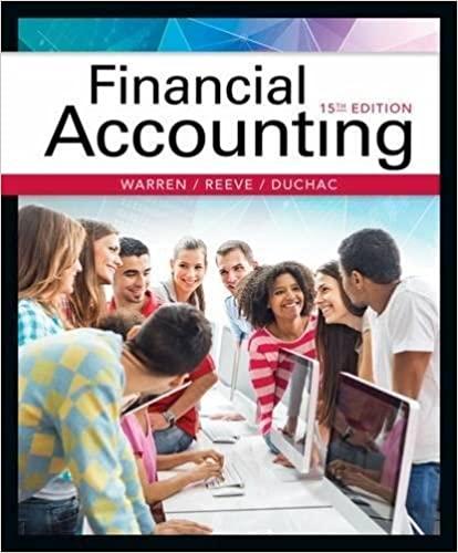 Financial Accounting by Warren/Reeve/Duchac