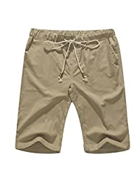 Banana Bucket Men's Linen Casual Classic Fit Short