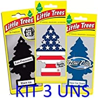 Aromatizantes Little Trees Importado Original Kit Com 3 Uns