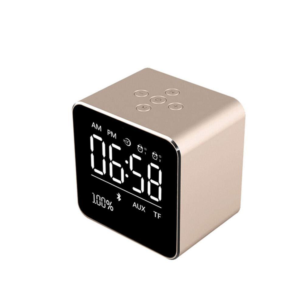 Pantalla LCD Altavoz Bluetooth Reloj Despertador 2 en 1 Soporte ...