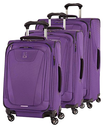 Travelpro Maxlite 4 3 Piece Set: Expandable 29'' Spinner, Expandable 25'' Spinner and Expandable Carry-on Spinner, Purple by Travelpro