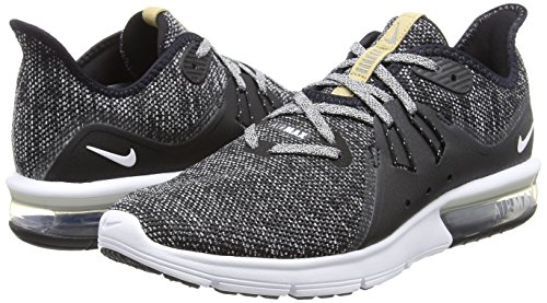 Nike Men's Air Max Sequent 3 Running Shoes Black/White-Dark Grey 7 by Nike (Image #5)