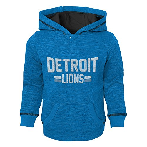 Outerstuff NFL Detroit Lions Toddler Tiny Linemen Slub Fleece Hoodie, Lion Blue, 4T (Lions Toddler Fleece)