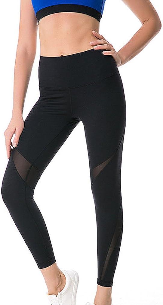 Honghu Womens High Waist Leggings Skinny Workout Yoga Pantsrol