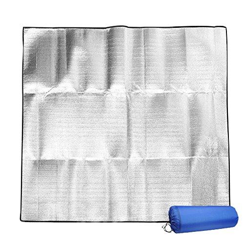 NSXIN Isomat, aluminiummat, thermomat, 2 x 2 m, isolatiemat, aluminium, camping, outdoor, licht, waterdicht, slaapmat…