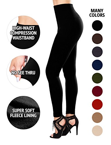 SEJORA Fleece Lined Leggings High Waist...
