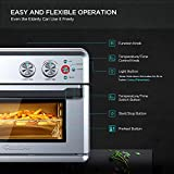 CalmDo Air Fryer Toaster Oven, 26.3 QT Convection
