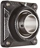Link-Belt F3U239N Ball Bearing Flange Unit, 4 Bolt Holes, Standard-Duty, Relubricatable, Non-Expansion, Cast Iron, Spring Locking Collar, Inch, 2-7/16'' Bore Diameter