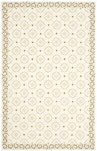 Safavieh Newport Collection NPT443C Hand-hooked Cotton Area Rug, 7 9 x 9 9 , Taupe Beige