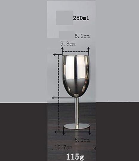 SUNHAO Taza de acero inoxidable acero inoxidable vidrio Copa ...