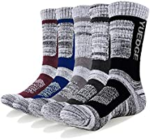 YUEDGE Men's 5 Pairs Athletic Socks Breathable Cushion Comfortable Casual Crew Socks Performance Multi Wicking Workout...
