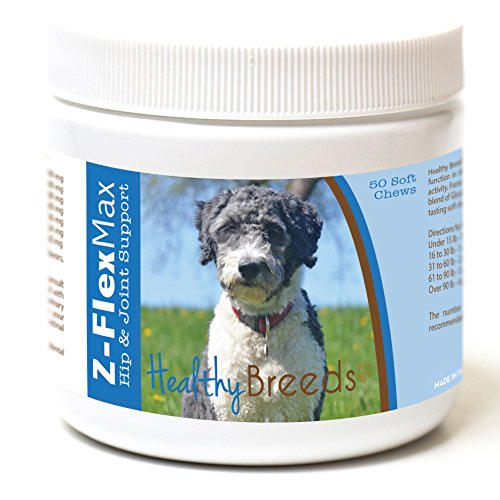 Healthy Breeds Z-Flex Max Hip & Joint Supplement Soft Chews for Aussiedoodle - OVER 100 BREEDS - Medium & Large Breed Formula - 50 Count