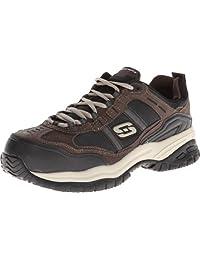 Skechers for Work Men's Soft Stride Grinnel Slip Resistant Steel Toe Shoe
