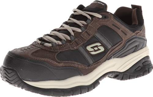 Skechers Men's Work Relaxed Fit Soft Stride Grinnel Comp, Brown/Black - 7 D(M) US -