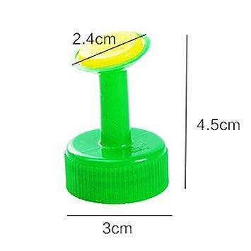 Parte superior de la botella de regadera, 8 pcs planta riego Spike aspersor favolook PVC plástico GB 28 mm de la boquilla aspersor cabeza jardín riego ...