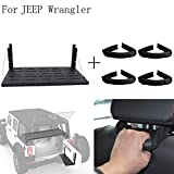 E-Most Rear Door Cargo Shelf Storage Rack&Black Rear Seat Grab Handle For Jeep Wrangler JK 2007-2016 13305.11