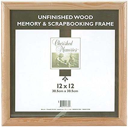 Amazoncom Darice 12x12 Unfinished Memory Frame Brown