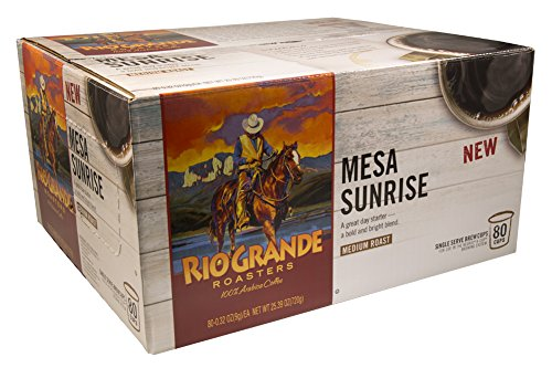 Price comparison product image Rio Grande Roasters Mesa Sunrise Coffee Single Serve K-Cup, 80 Count (Compatible with 2.0 Keurig Brewers)