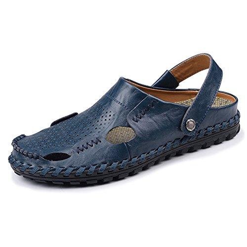 Xing Lin Sandales En Cuir Baotou Sandales Pantoufles Marée D'Été De Nouveau Mode De Plein Air Chaussures De Plage De Sable, Les Chaussures, Porter Un Code Standard 44, Bleu Q