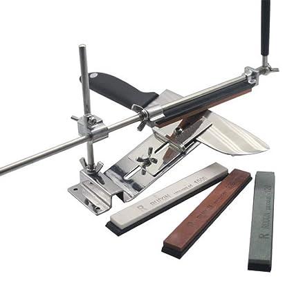 H&RB Acero Inoxidable Profesional Afilador De Cuchillos Herramienta Afiladora Máquina Accesorios Cuchillo Afilar Conjunto, 4 Piedras de áfilar, [Clase ...