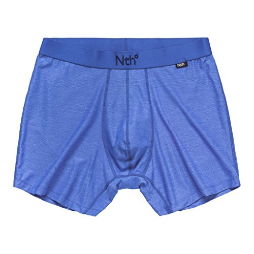 (Nth Degree Men's Nomad ZnO Trim Fit Boxer Briefs Underwear, Olympian Blue,)