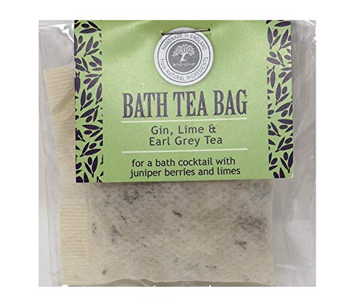 Gin Lime and Earl Grey Tea Festive Bath Tea Bag Wild Olive