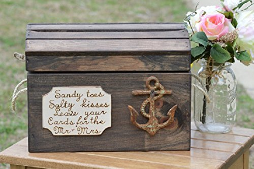 Amazon.com: Beach Wedding Card Box - Nautical Wedding Reception Card ...