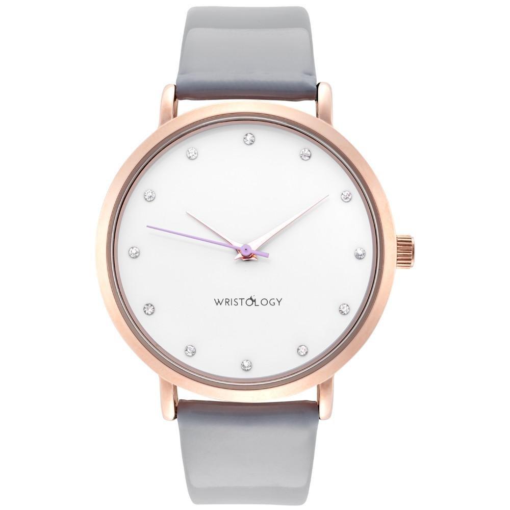 f0609b336 Amazon.com  WRISTOLOGY Olivia Womens Rose Gold Crystal Wrist Watch Grey  Patent Leather Band  WRISTOLOGY  Watches