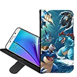 Samsung Galaxy S7 Case, Pokemon Blastoise PU Leather Folio Flip Wallet Case Cover with ID Credit Card Holder with Stand for Samsung Galaxy S7 + Thewart_Eight® Stylus Pen (#118)