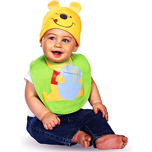 Pooh Bib With Hat Costumes (Winnie the Pooh Bib and Hat Costume - Newborn)