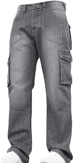 maweisong メンズ リラックス フィット プラス サイズ ジーンズ カーゴ パンツ ビッグ &トールスタイル パンツ