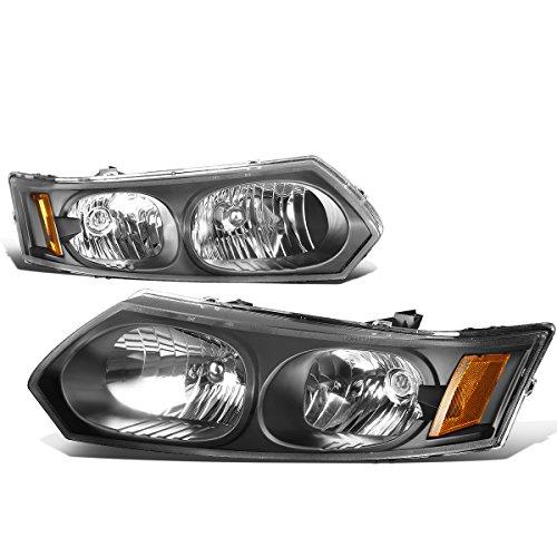 For Saturn Ion Sedan Pair of Black Housing Amber Corner Headlight Lamp Replacement Kit (Saturn Ion Racing)