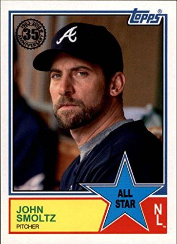 John Cards Smoltz (2018 Topps 1983 Topps All-Stars #83AS-53 John Smoltz Atlanta Braves Baseball Card)