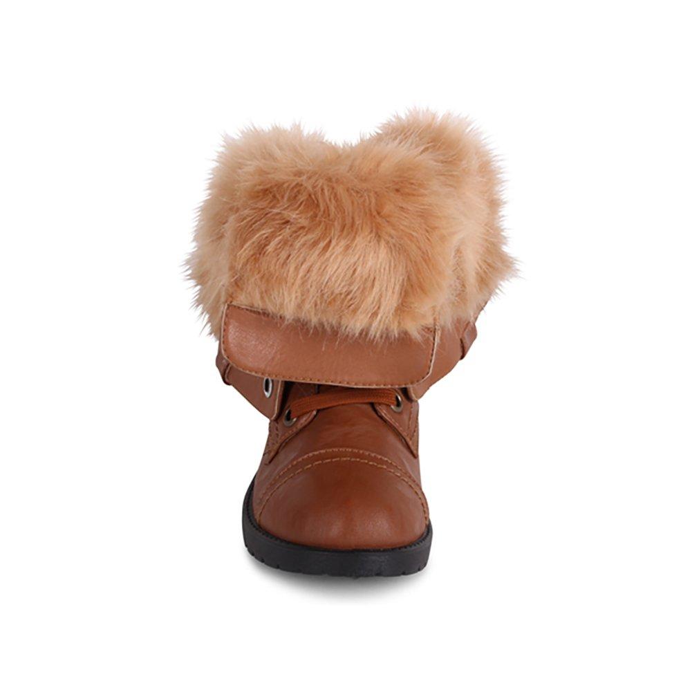 """Crestone"" Combat Bootie with Fur Lining (Faux Fur)"