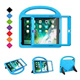 BMOUO Case for New iPad 9.7 2018/2017 with Built-in Screen Protector, Shockproof Lightweight Handle Stand Kids Case for Apple iPad 9.7 Inch 2018/2017/iPad Air/iPad Air 2/iPad Pro, Blue