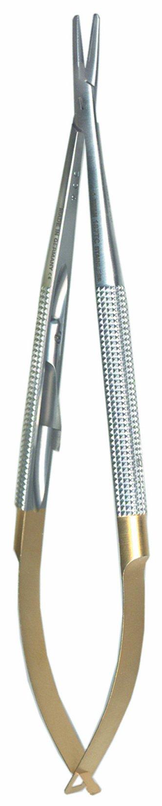 A. Titan 187TC Long Straight, Long Round Handle, Castro Viejo Needle Holder