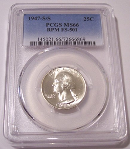 1947 S Washington S/S RPM Variety FS-501 Quarter MS66 PCGS