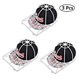 Toopify Hat Washer Baseball Cap Cleaner Hat Washing Cage Holder Frame for Washing Machine, 3 Pack