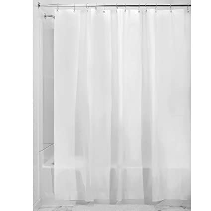 InterDesign EVA Extra Long Shower Curtain Mold And Mildew Resistant Water Repellent